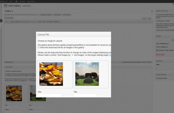 wordpress gallery plugin screenshot 1