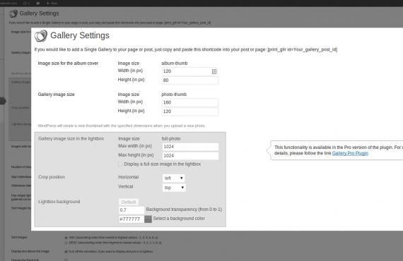 wordpress gallery plugin screenshot 3