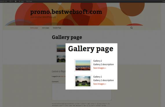 wordpress gallery plugin screenshot 2