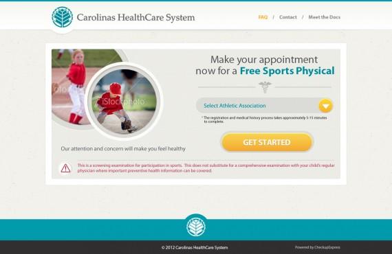 healthcare website design screenshot 2