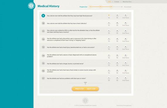 healthcare website design screenshot 3