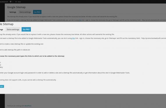 wordpress google sitemap plugin screenshot 2