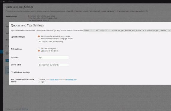 wordpress quotes and tips plugin screenshot 2
