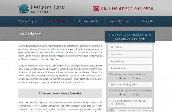 law firm website design screenshot 2
