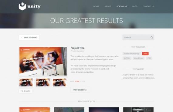 unity – multipurpose html template screenshot 3