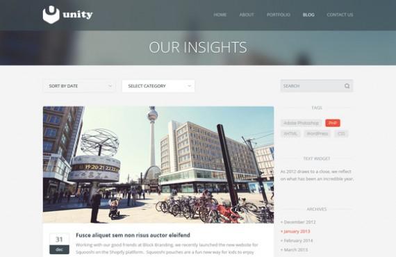 unity – multipurpose html template screenshot 4