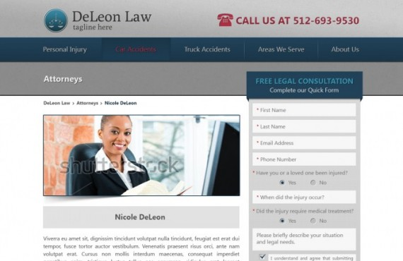 law firm website development screenshot 1