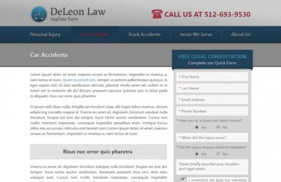 law firm website development screenshot 2