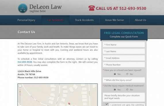 law firm website development screenshot 3