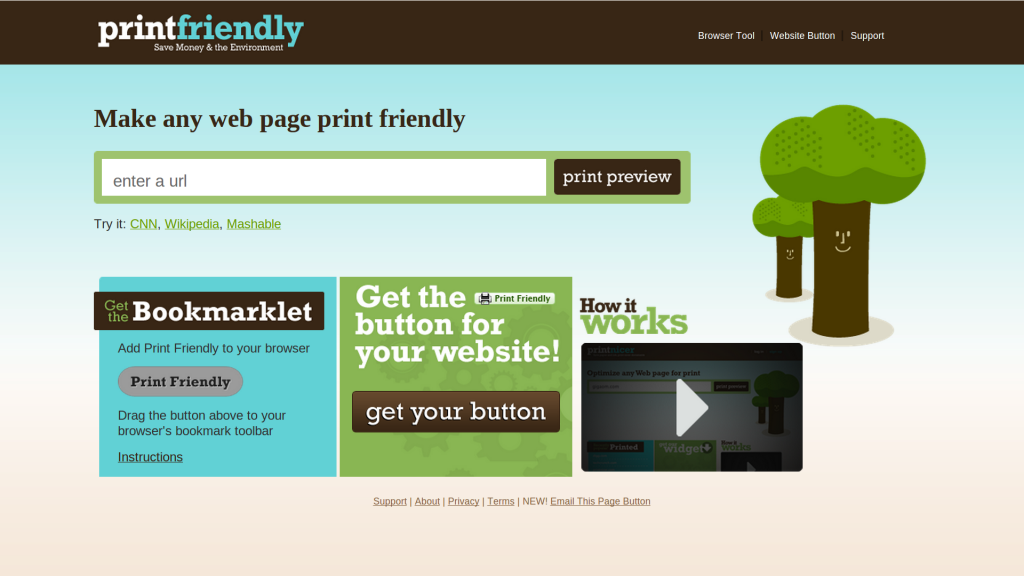 Print Friendly and PDF Button