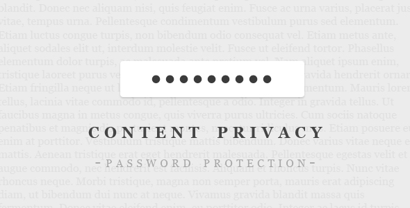 Password-Protect Your WordPress Content