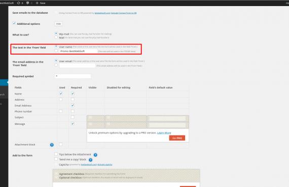 the contact form plugin customization screenshot 3