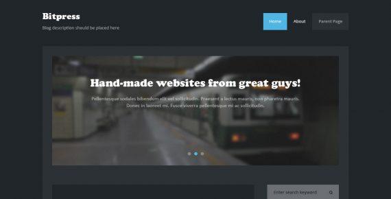 bitpress – miltipurpose psd template screenshot 1