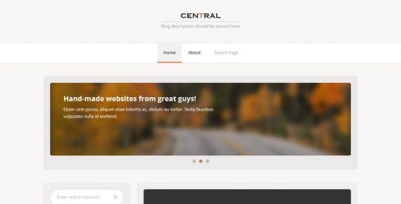 central – miltipurpose psd template screenshot 1