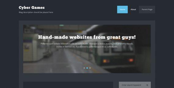 cybergames – multipurpose psd template screenshot 1