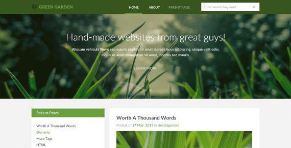 green garden – miltipurpose psd template screenshot 1