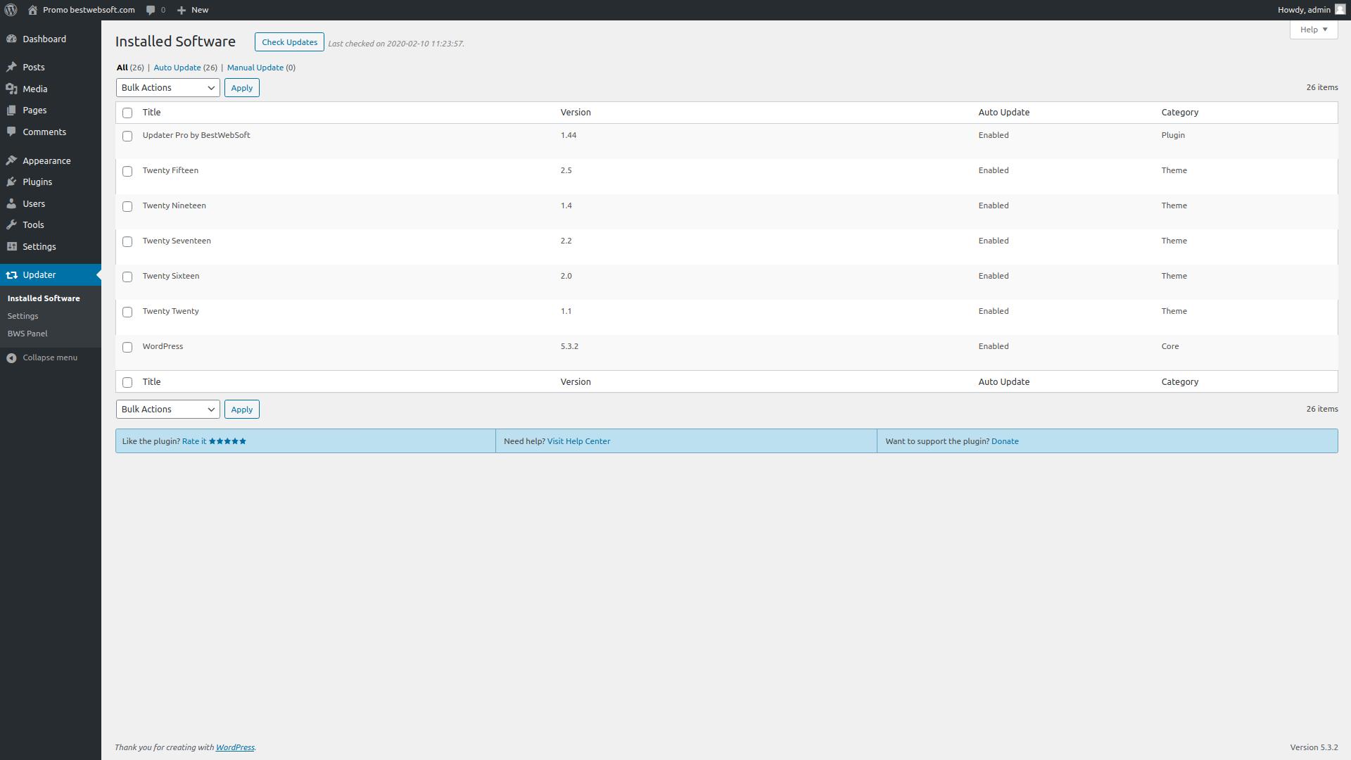 updater screenshot 2