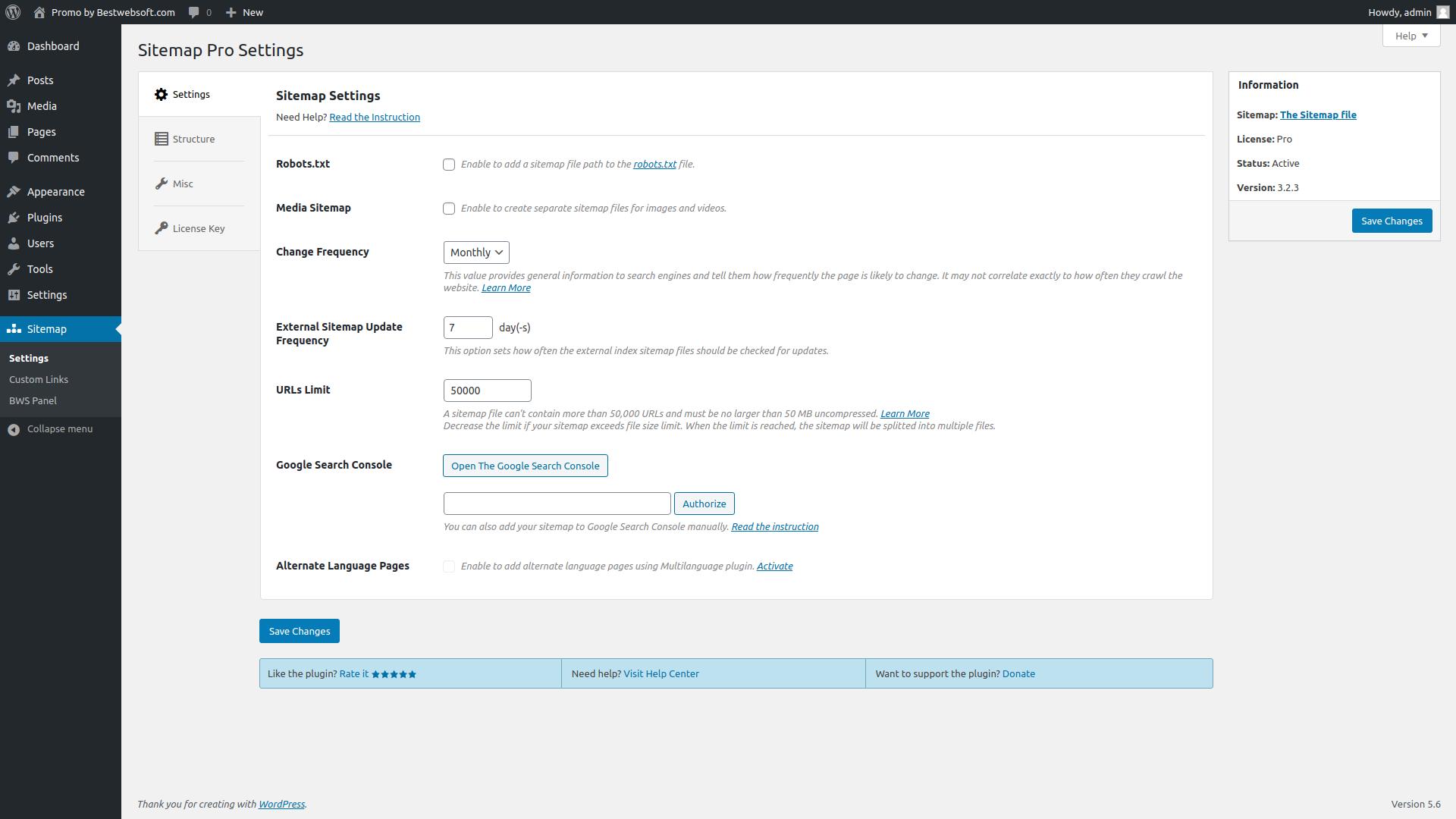 sitemap screenshot 1