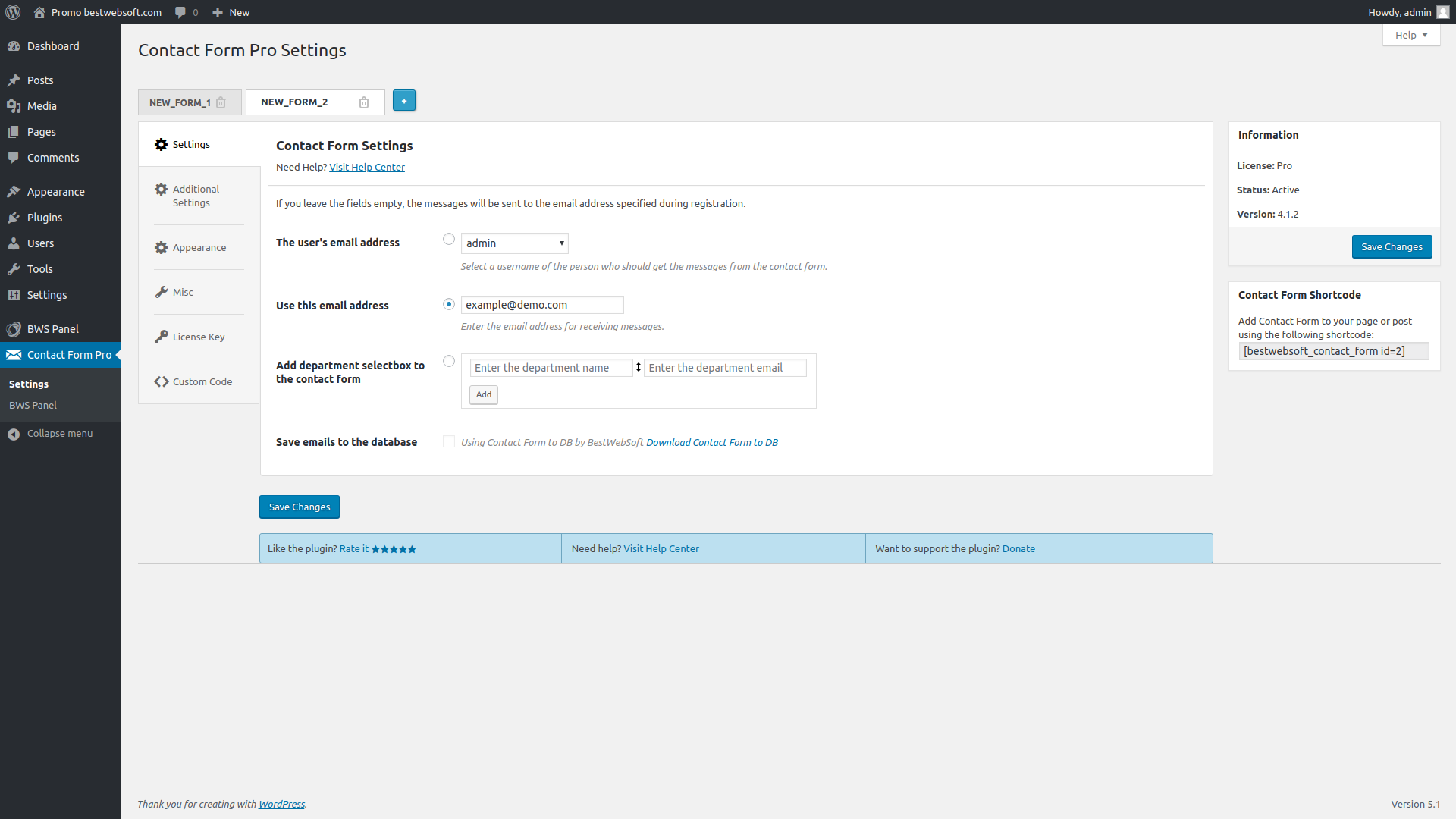 contact form multi screenshot 1