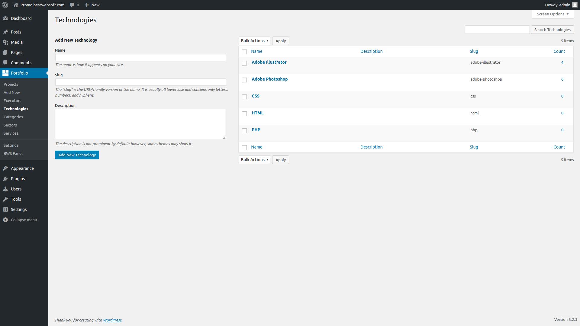 portfolio screenshot 4