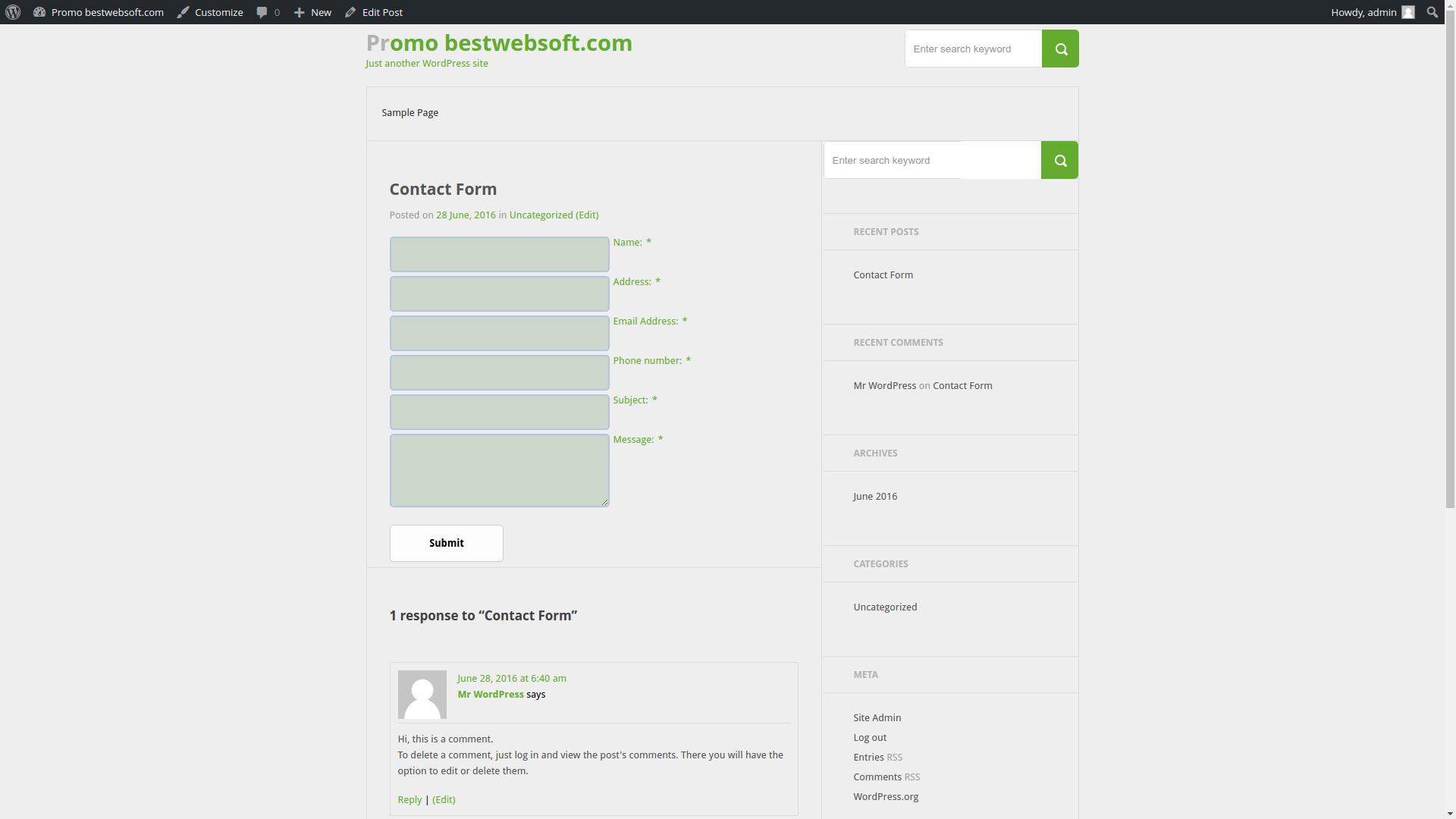 contact form screenshot 10