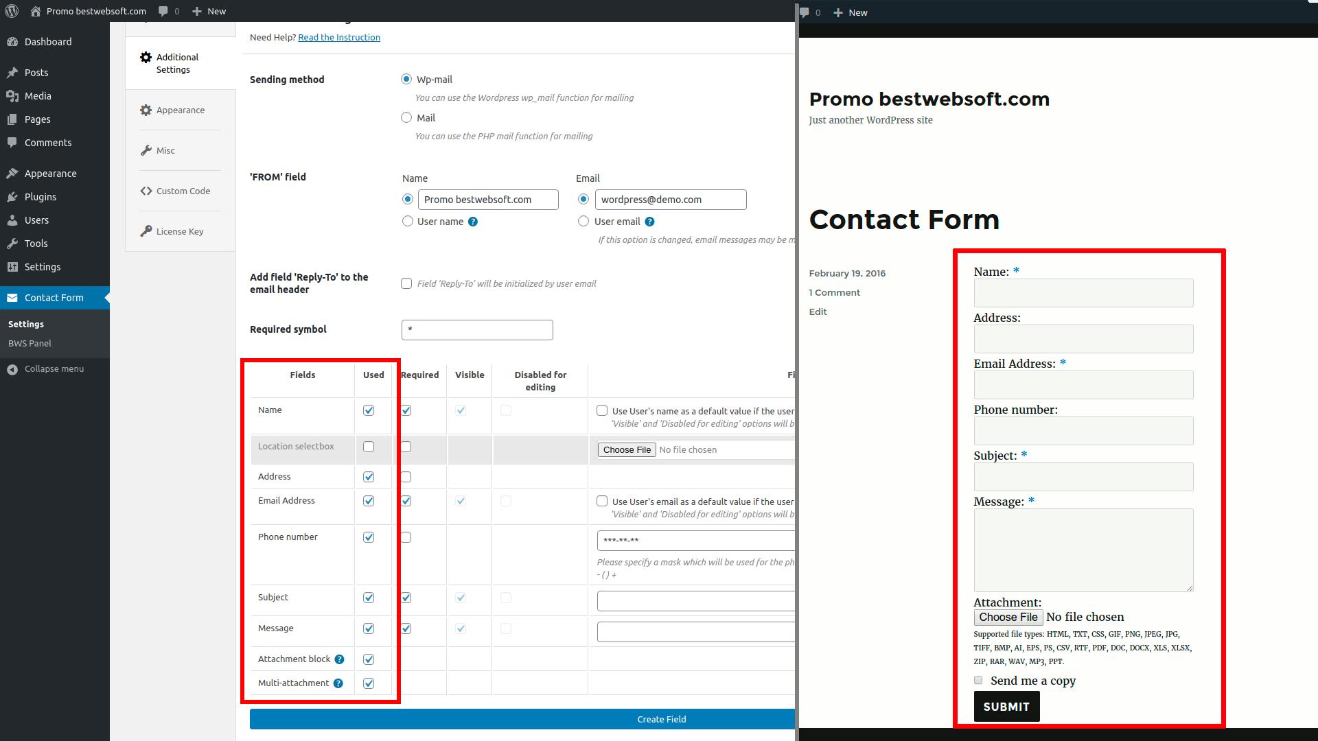 contact form screenshot 14