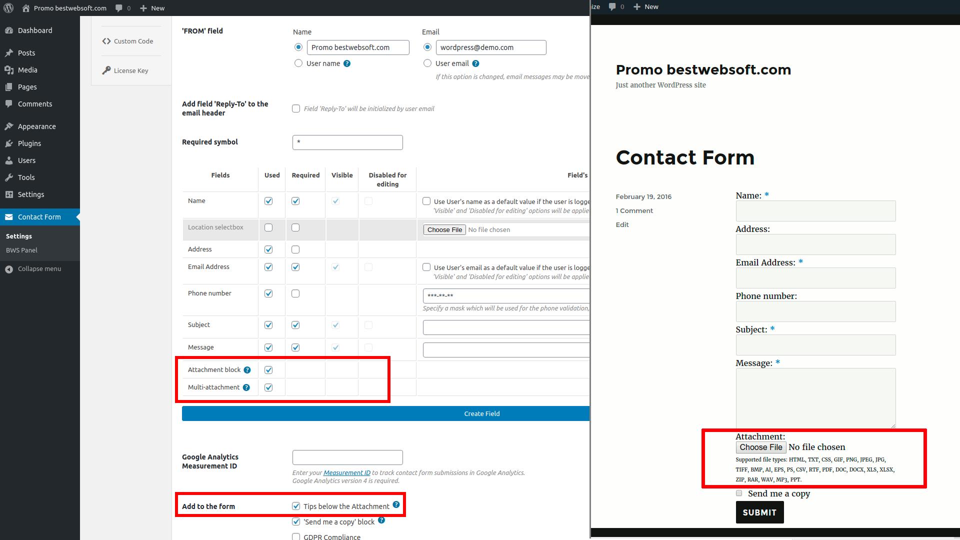 contact form screenshot 16