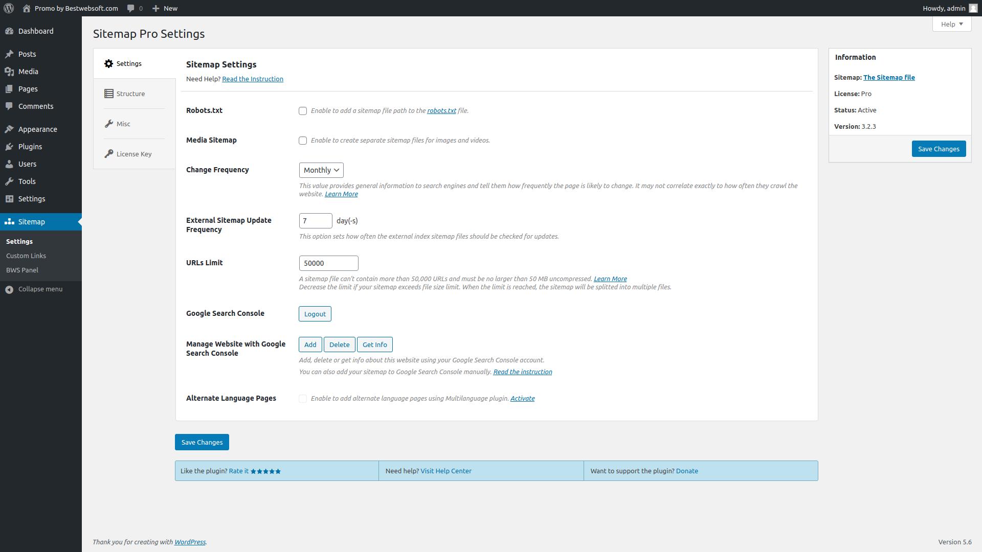 sitemap screenshot 2