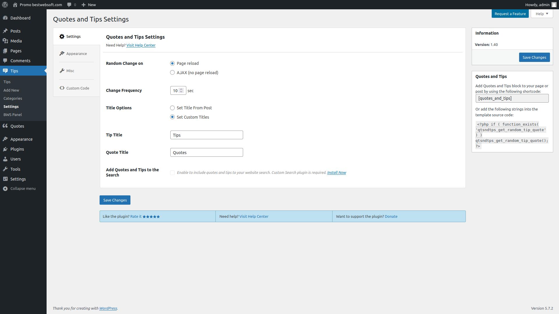 bestwebsoft's like & share screenshot 6