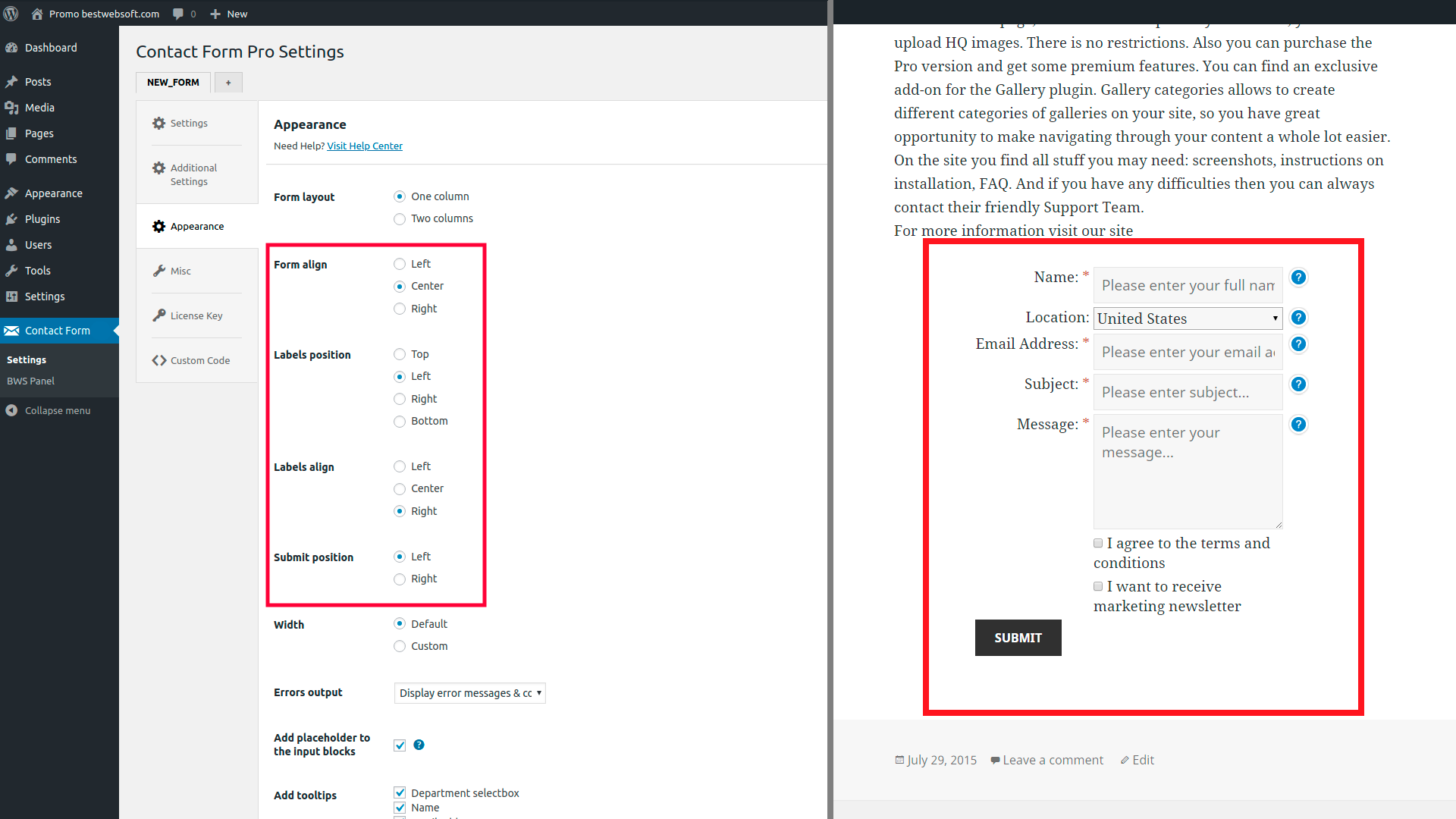 contact form screenshot 26
