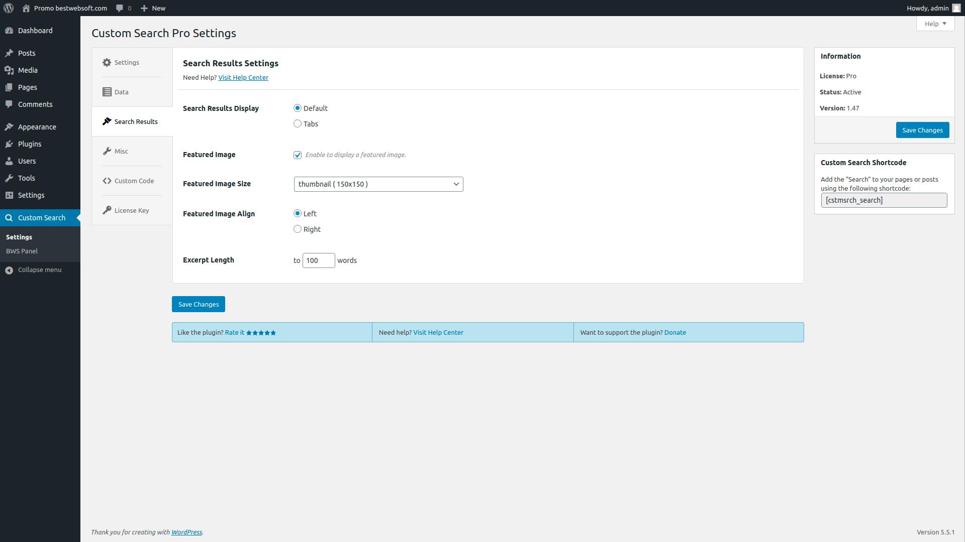 custom search screenshot 1