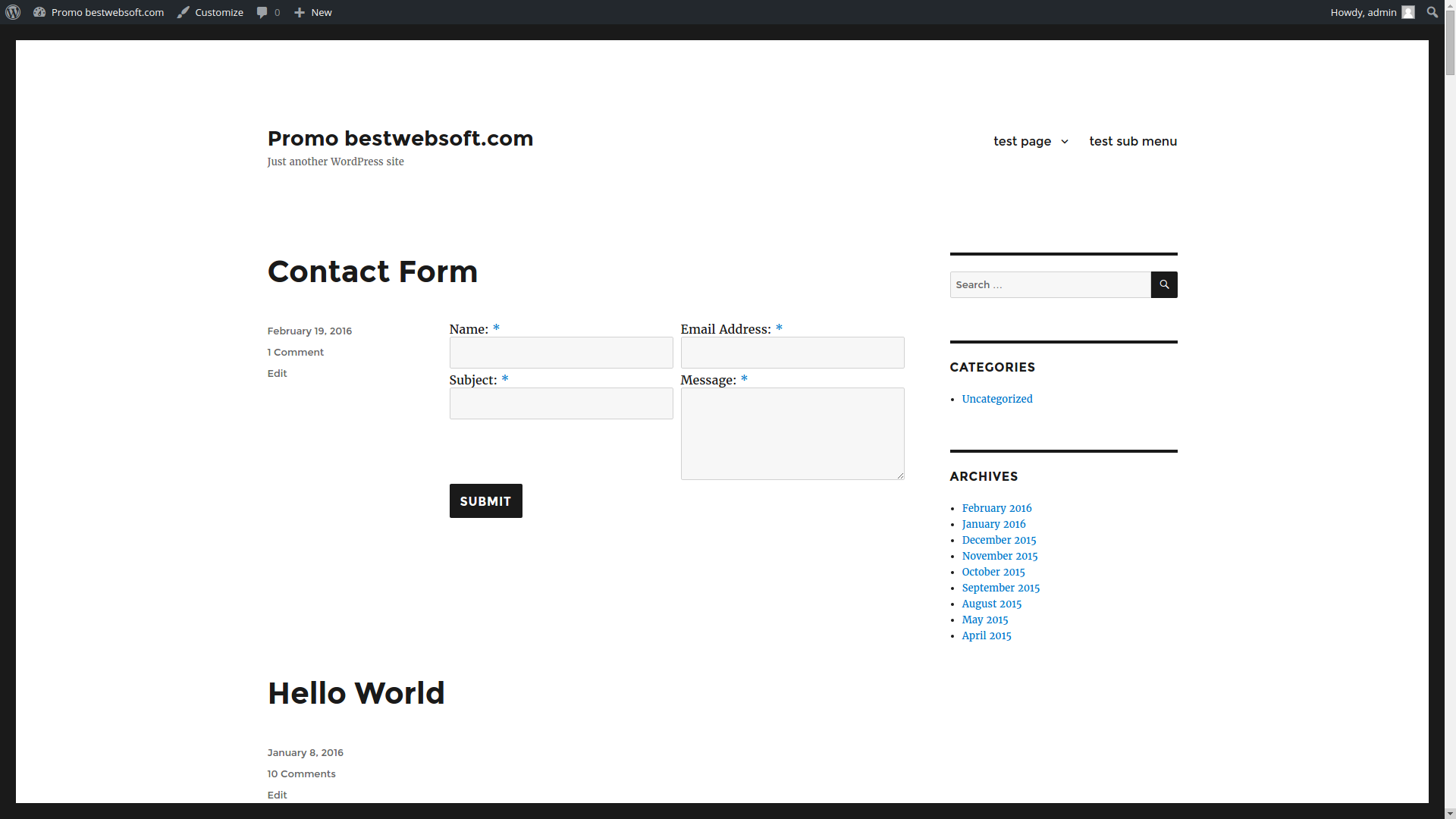 contact form screenshot 3