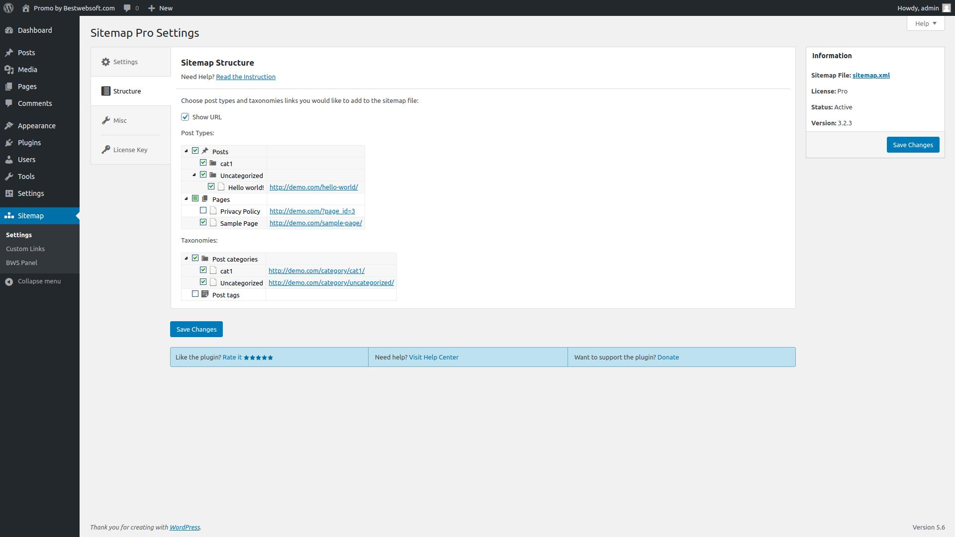 sitemap screenshot 3