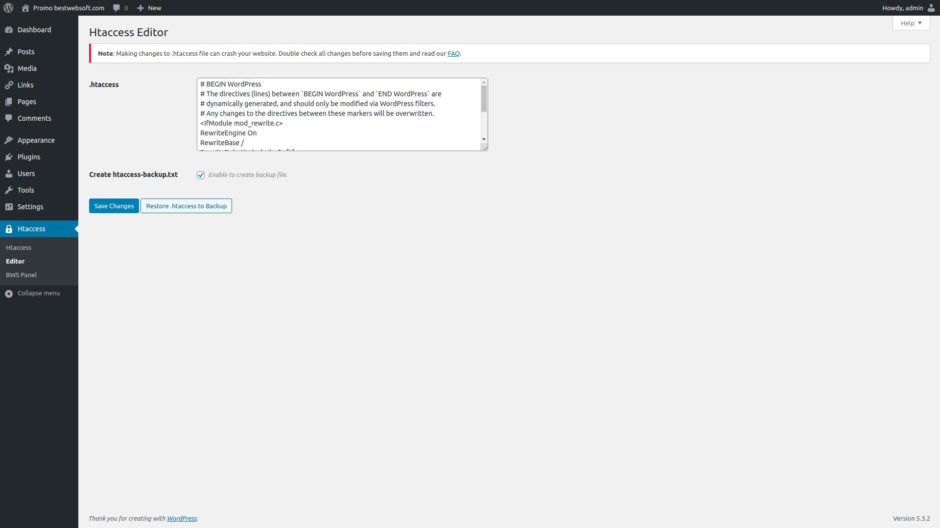 htaccess screenshot 2
