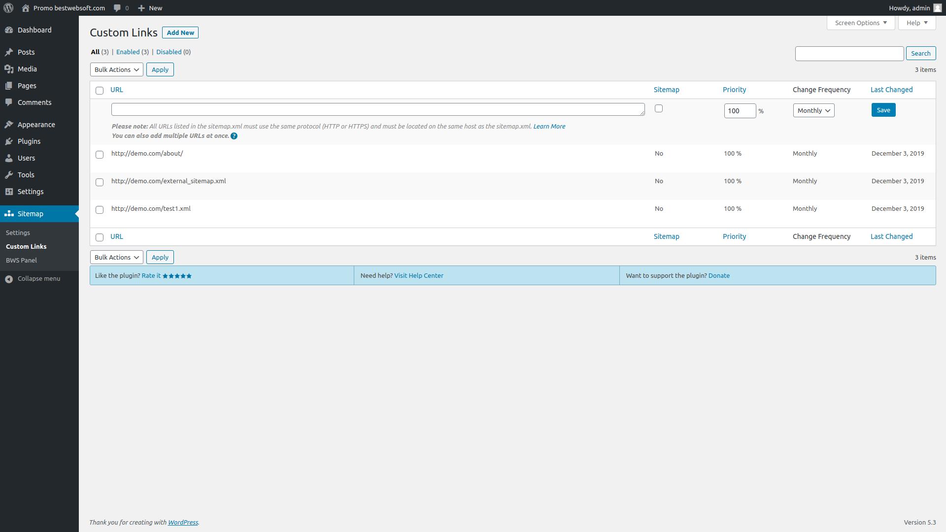 sitemap screenshot 4