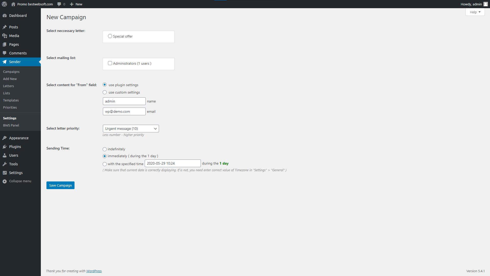sender screenshot 5