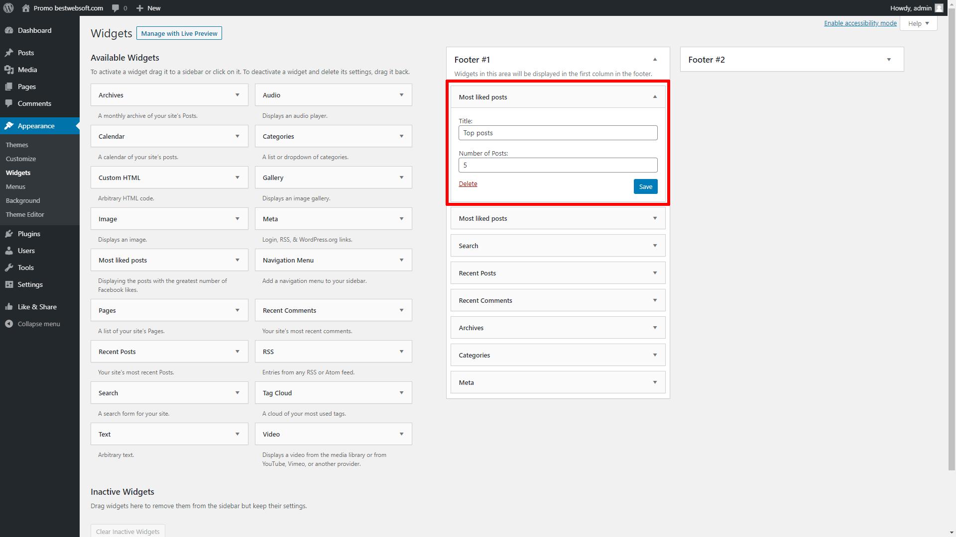 bestwebsoft's like & share screenshot 4
