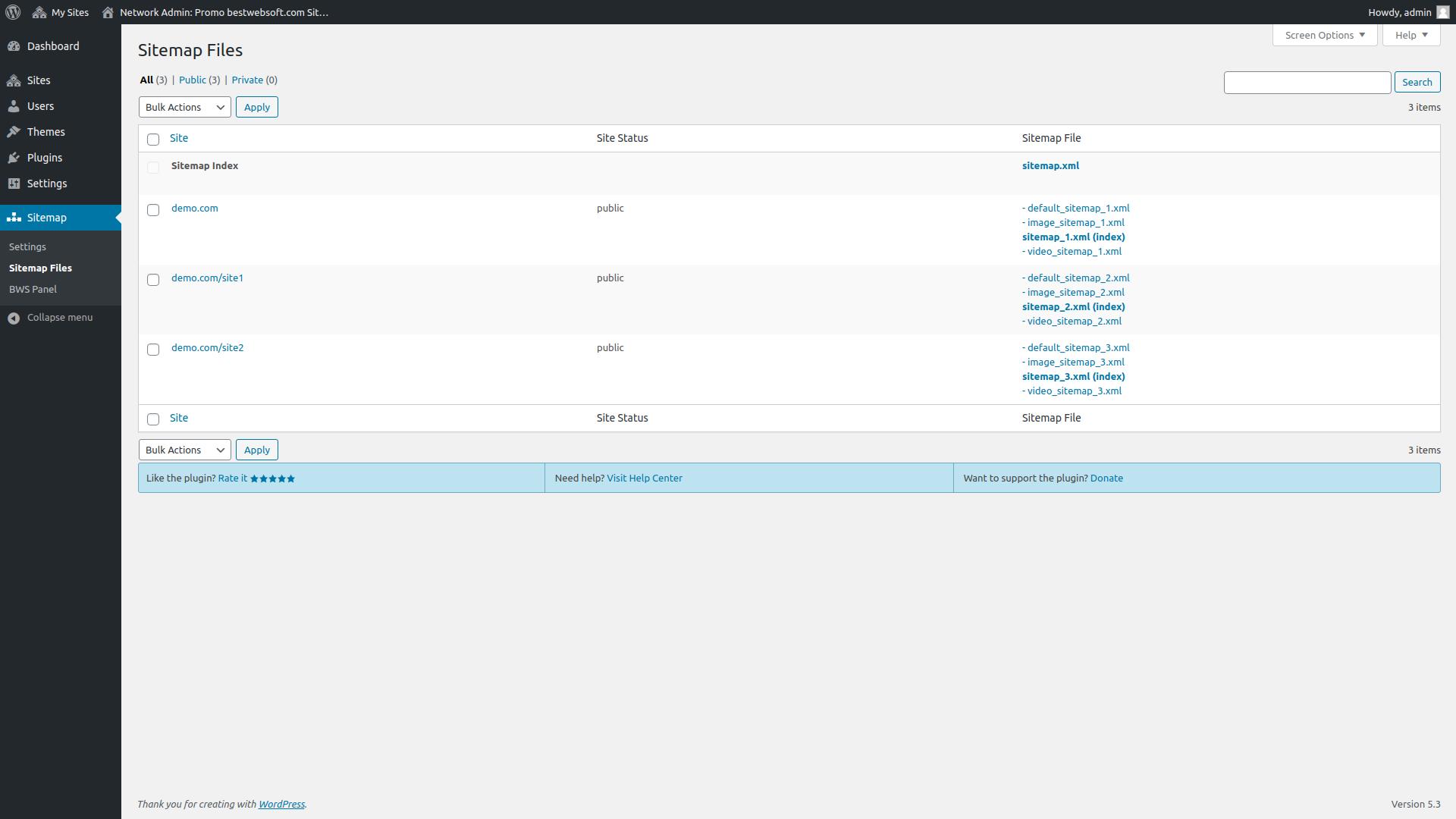 sitemap screenshot 6