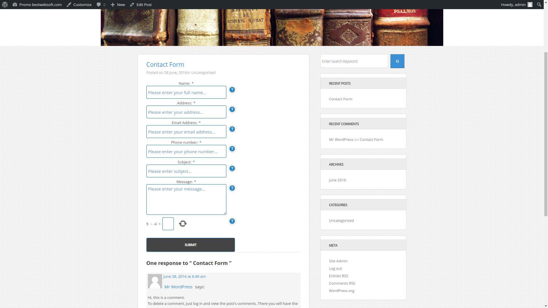 contact form screenshot 9