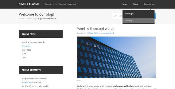 simple classic – multipurpose psd template screenshot 2