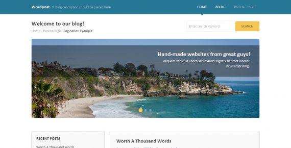wordpost – multipurpose psd template screenshot 1