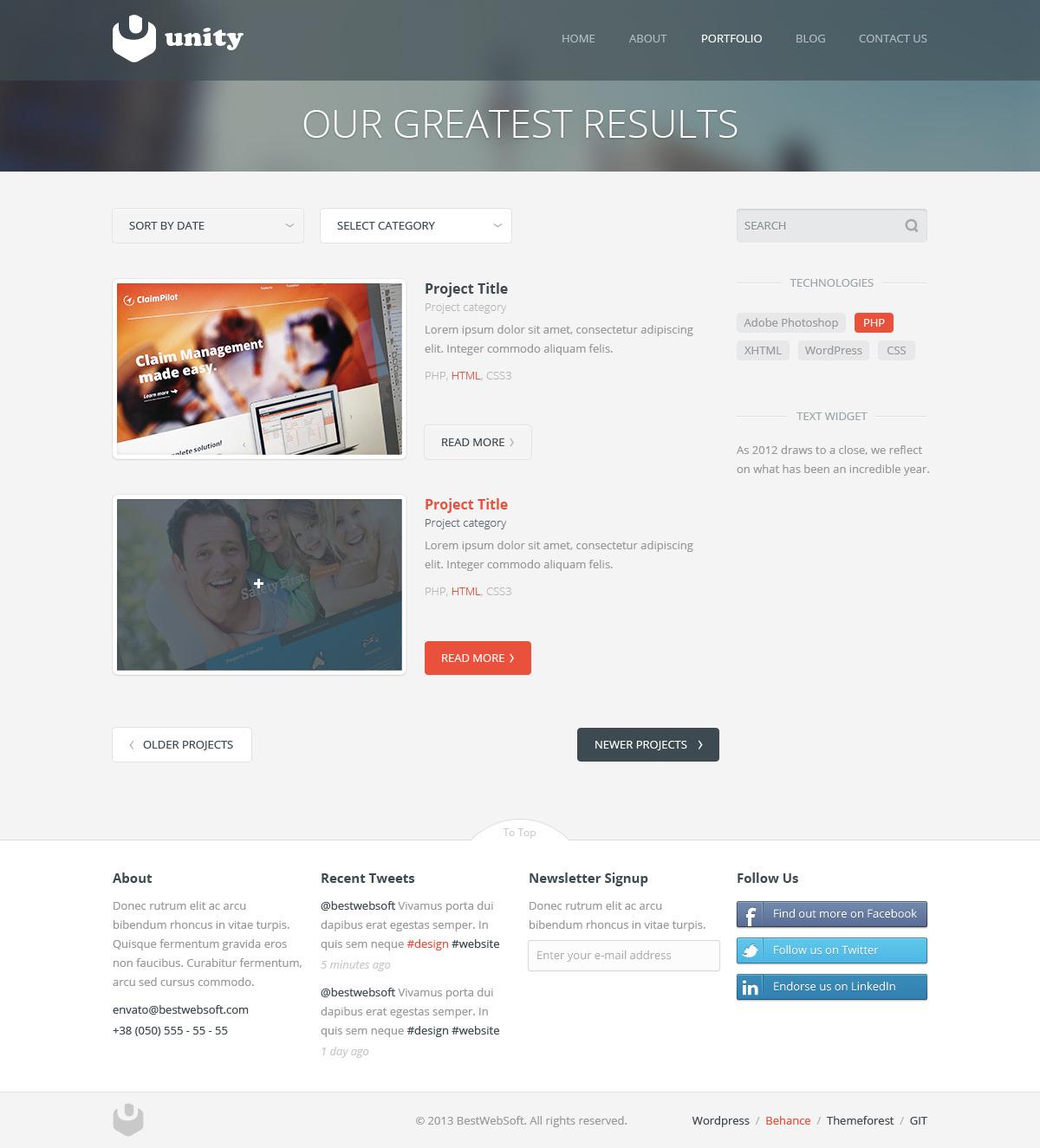 unity – multipurpose wordpress theme screenshot 7