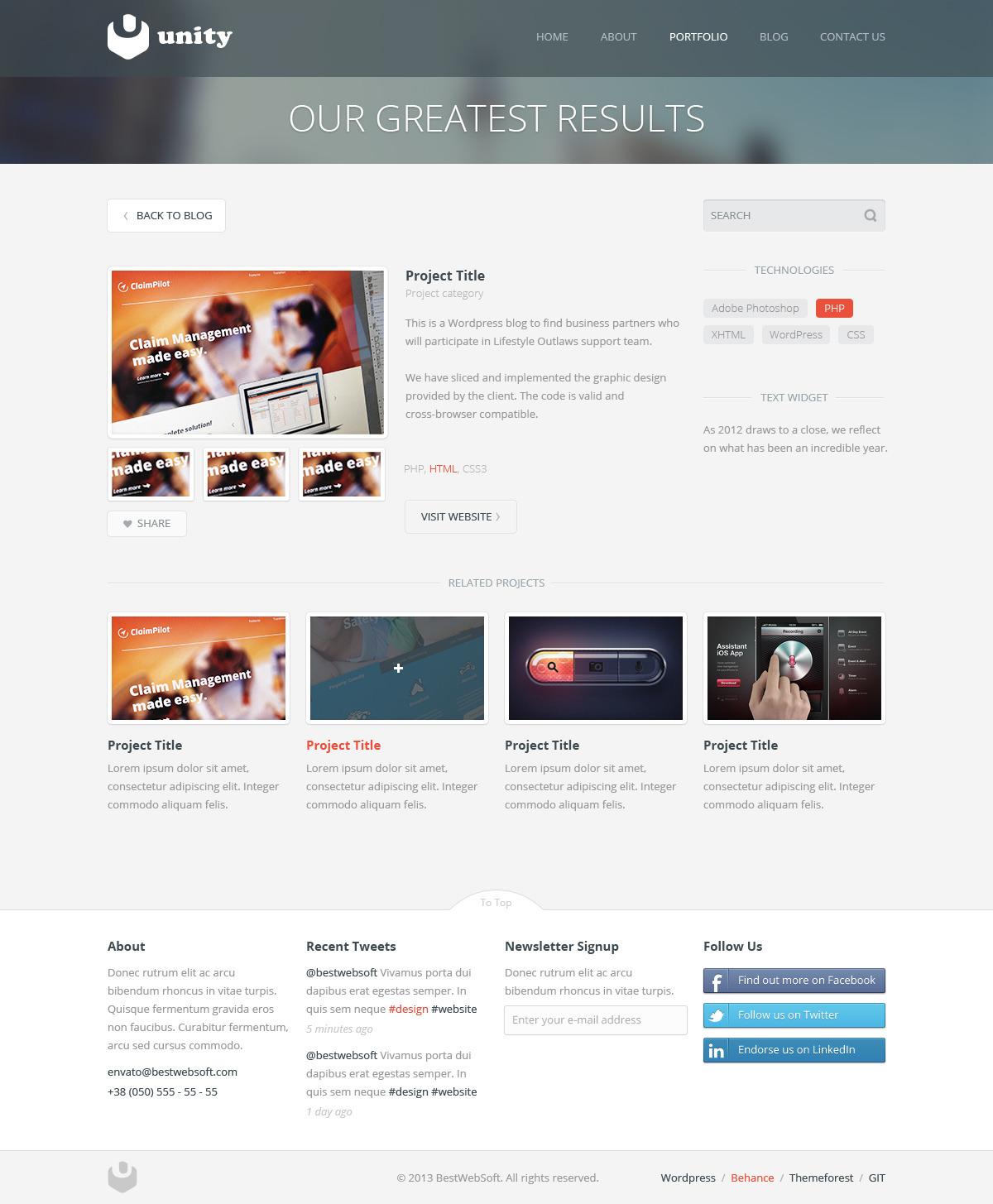 unity – multipurpose wordpress theme screenshot 8