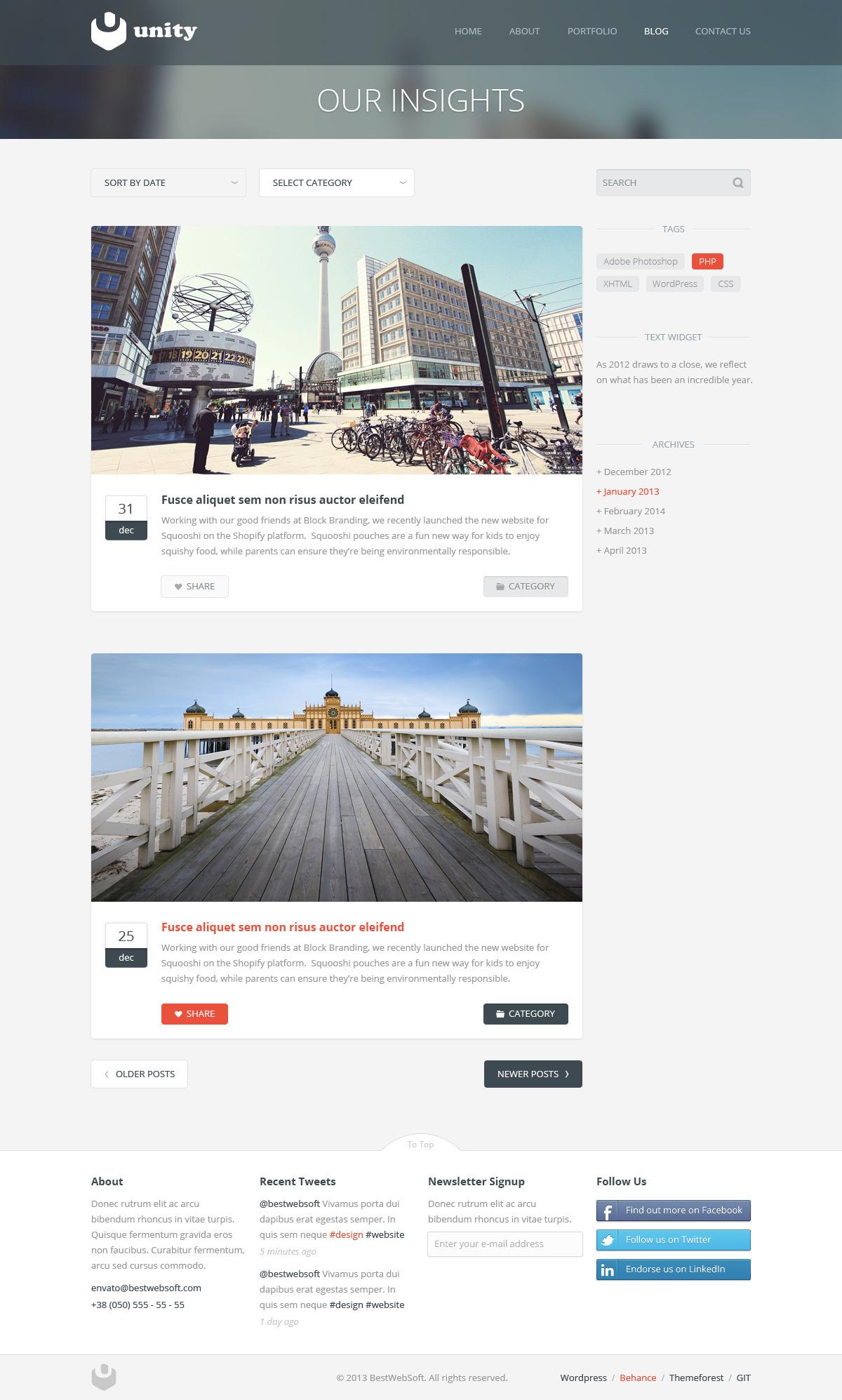 unity – multipurpose wordpress theme screenshot 1
