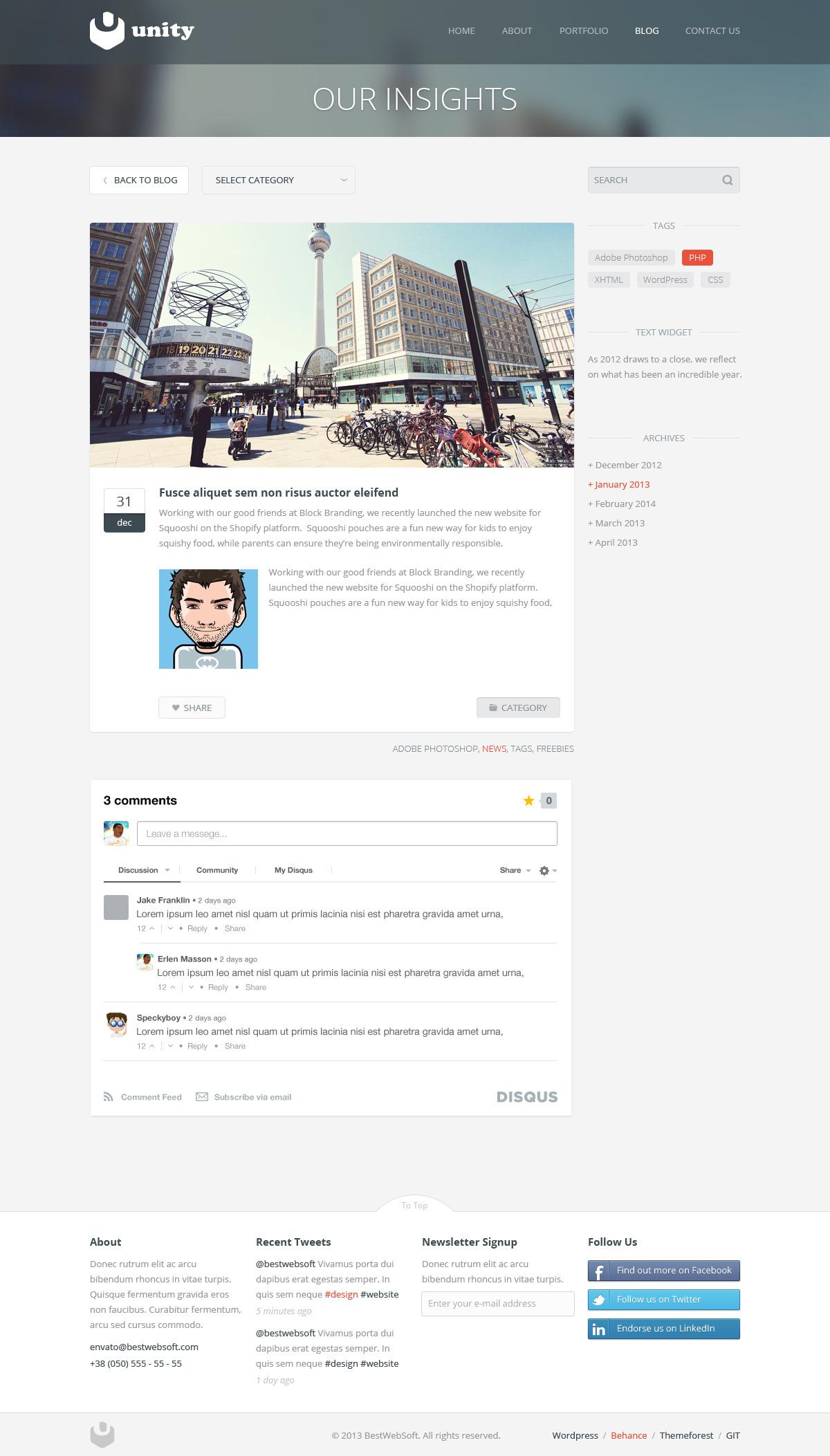 unity – multipurpose wordpress theme screenshot 2