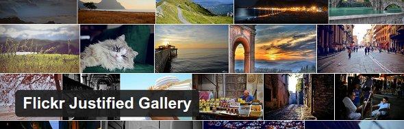 Flickr Justified Gallery plugin