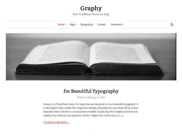 Graphy theme