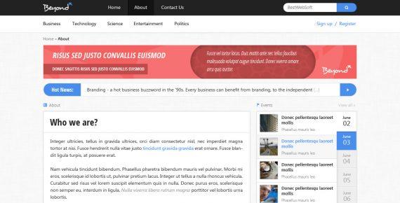 beyond – multi-purpose html template screenshot 6
