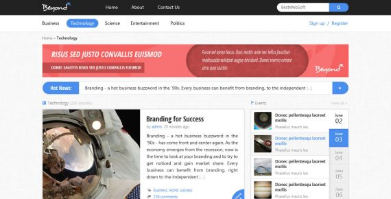 beyond – multi-purpose html template screenshot 4