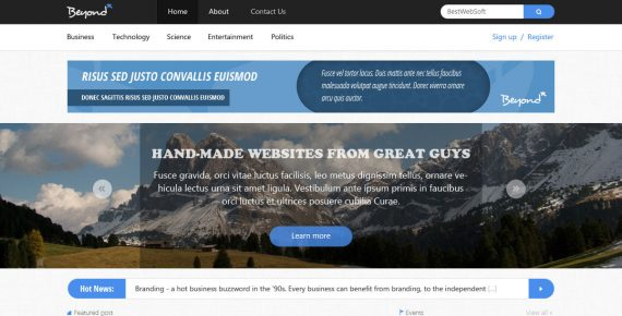 beyond – multi-purpose html template screenshot 2